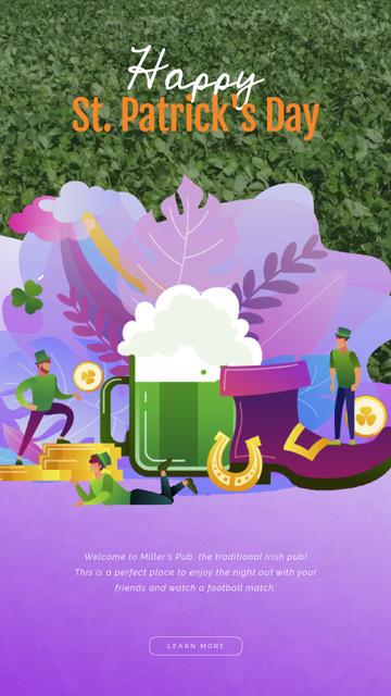 Saint Patrick's Celebration Attributes Instagram Video Story Modelo de Design