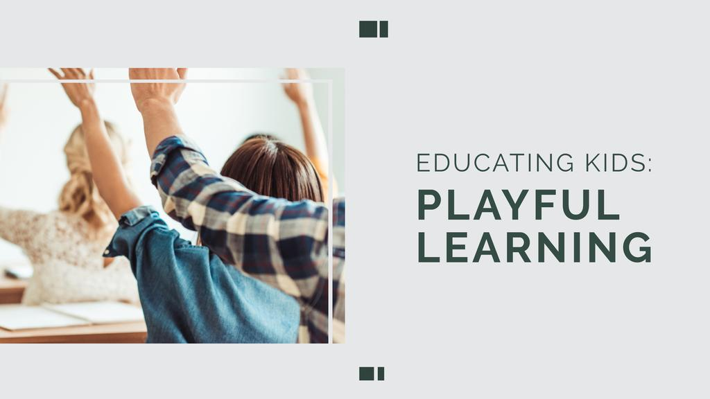 Education Program Students in Classroom — ein Design erstellen
