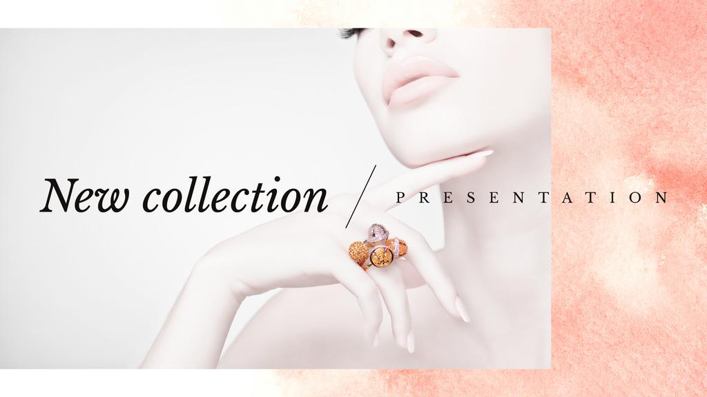 Jewelry Sale Woman in Precious Rings — Modelo de projeto