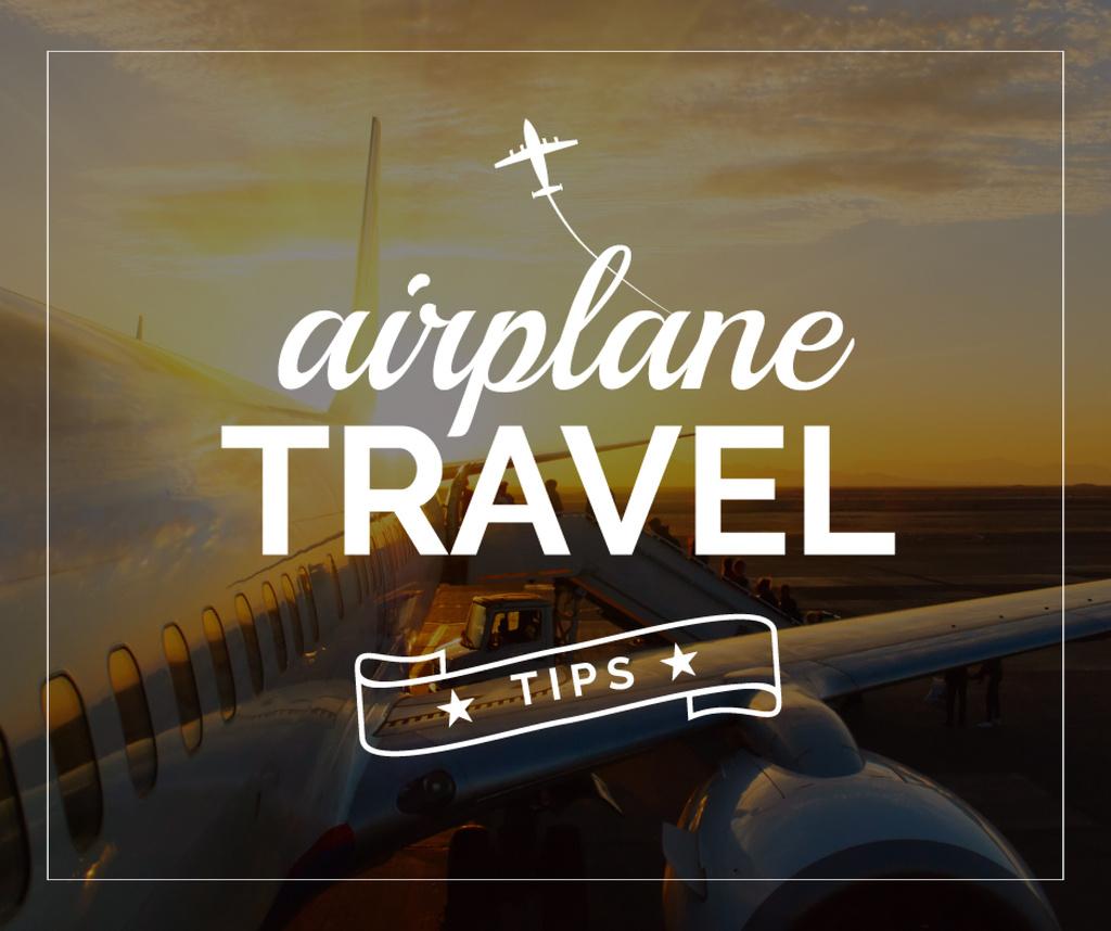 Airplane travel tips poster — Maak een ontwerp