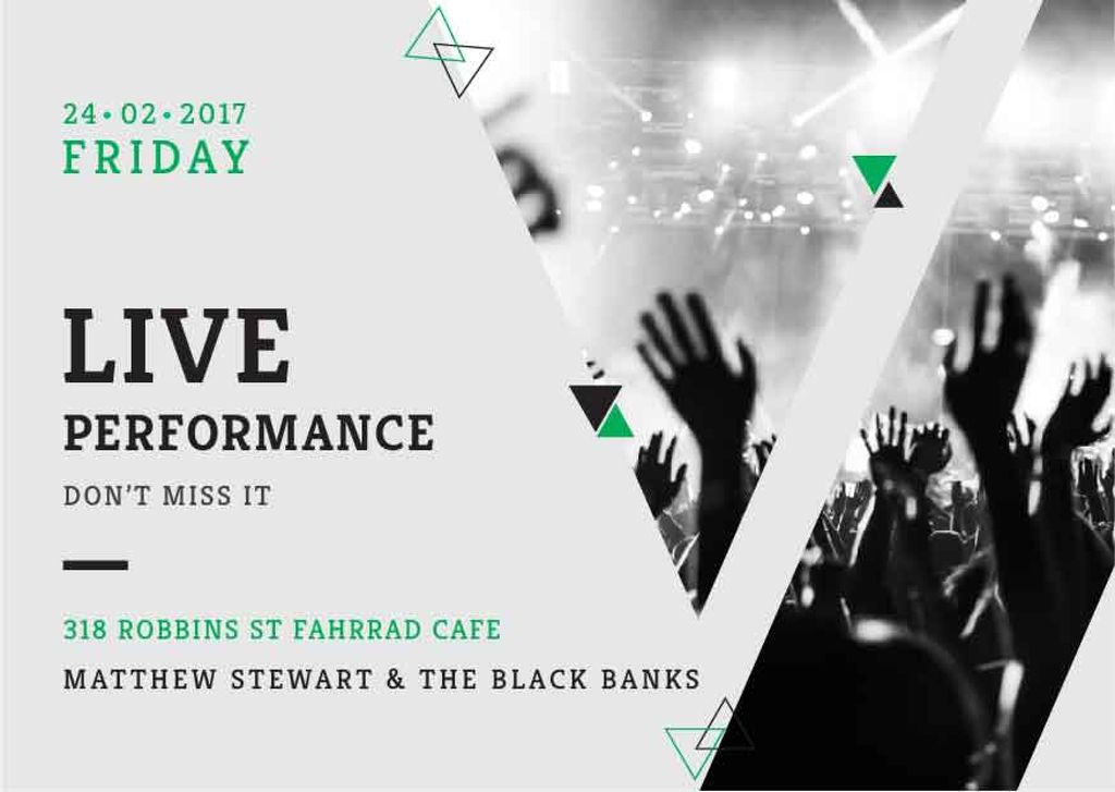 Matthew Stewart & The Black Banks live performance — ein Design erstellen