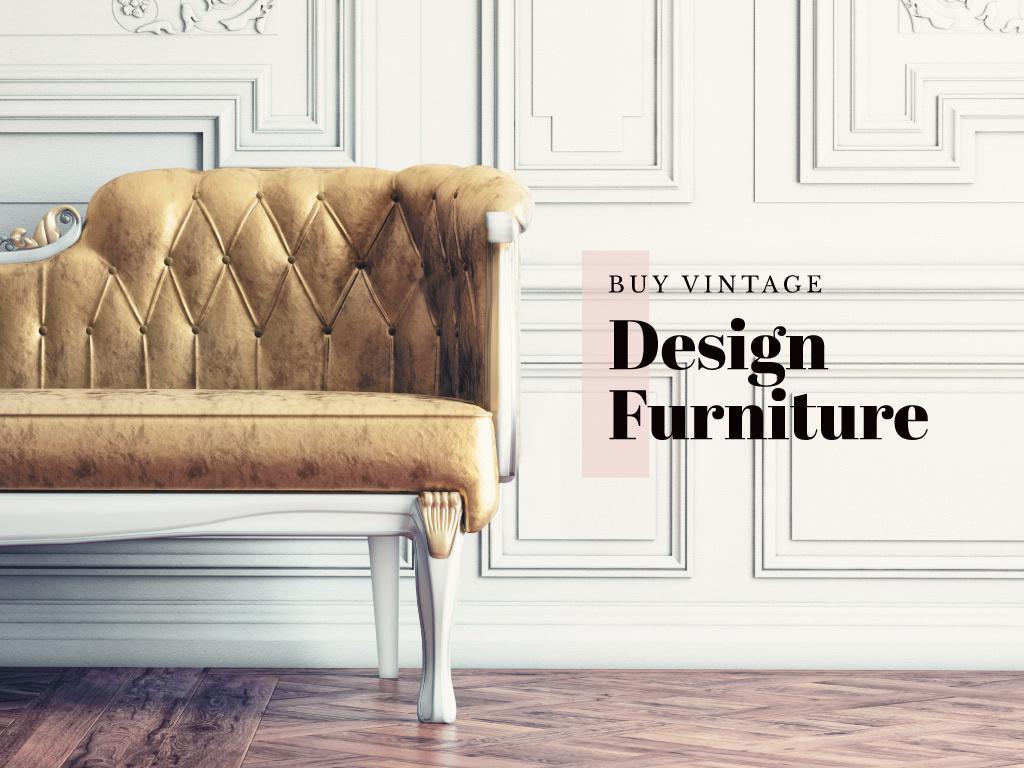 Vintage design furniture — Créer un visuel