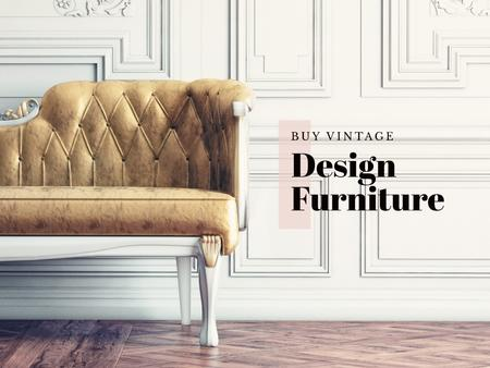 Ontwerpsjabloon van Presentation van Vintage design furniture