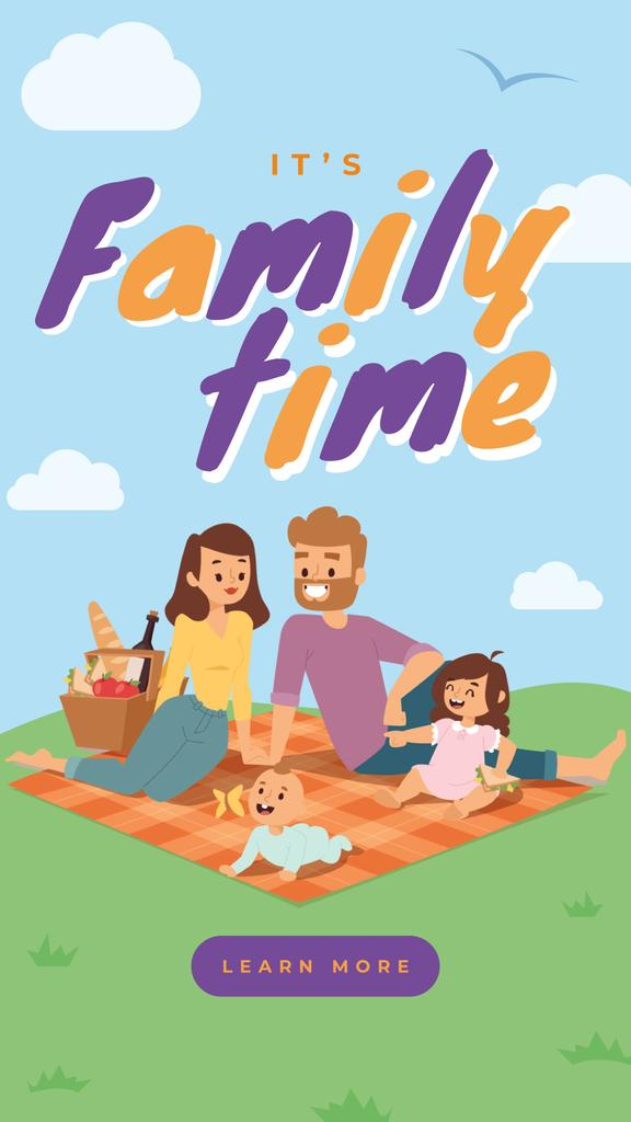 Family on a picnic in park — Create a Design
