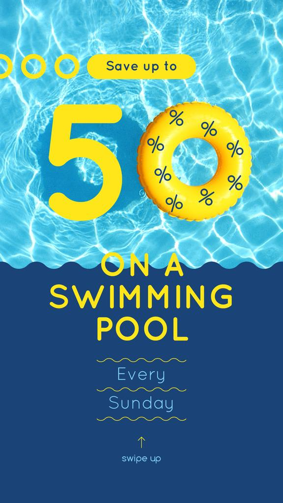 Floating ring in swimming pool — Создать дизайн
