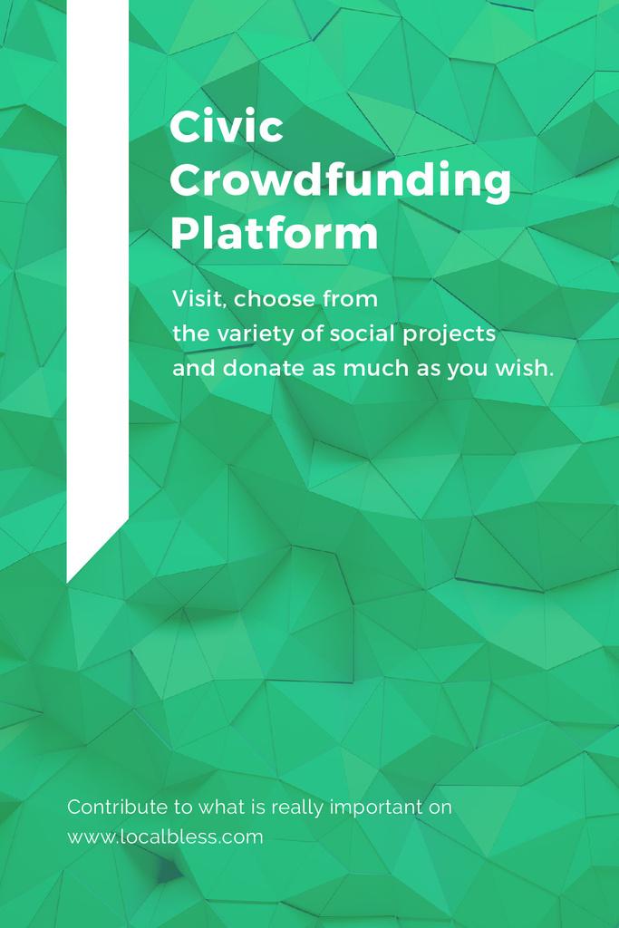 Crowdfunding Platform ad on Stone pattern — Modelo de projeto