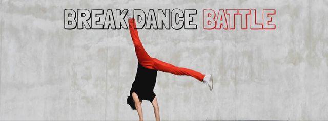 Template di design Man break dancing Facebook Video cover