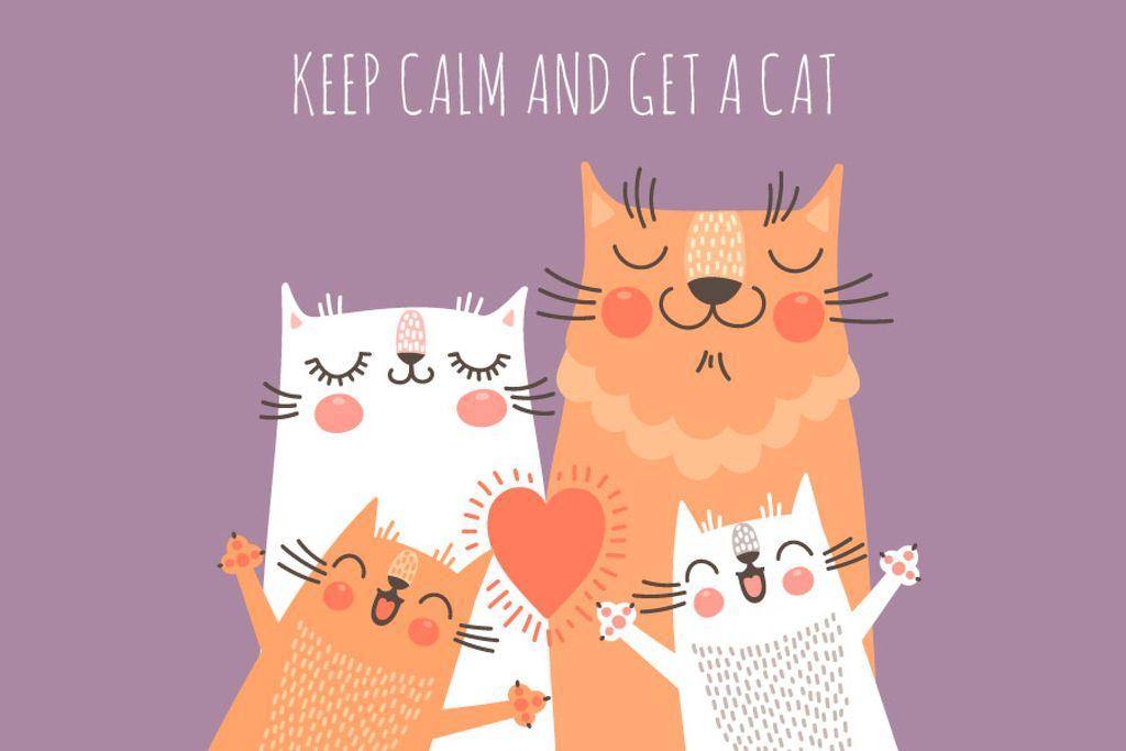 Citation with Cute Cat Family — Modelo de projeto