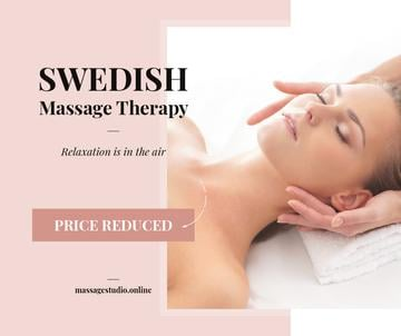 Woman at Swedish Massage Therapy