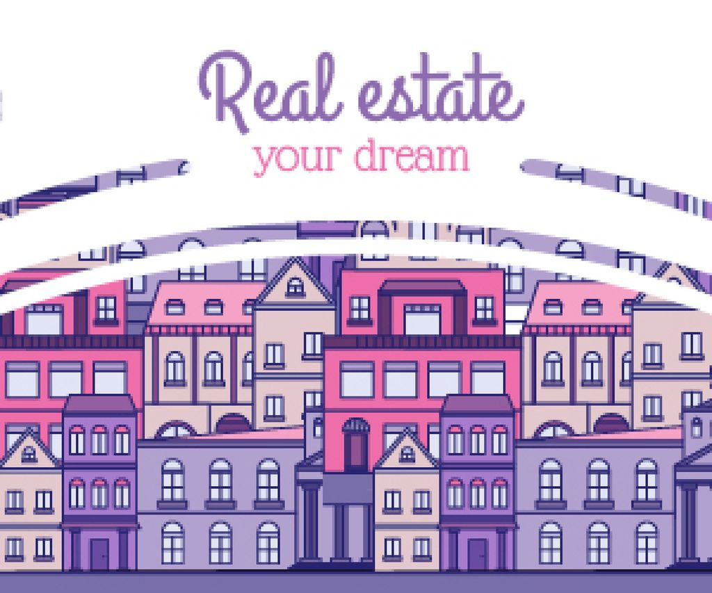 Real Estate Ad with Modern Buildings — Create a Design