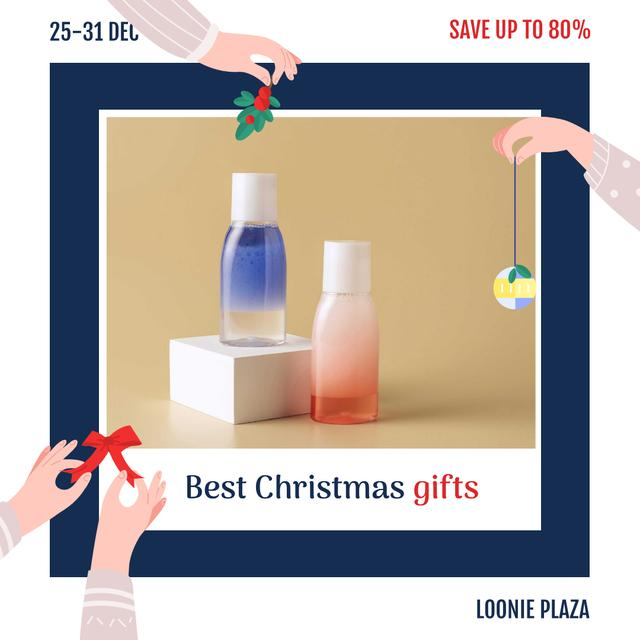 Template di design Christmas Sale Skincare Products Bottles Instagram