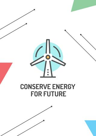 Ontwerpsjabloon van Poster van Concept of Conserve energy for future