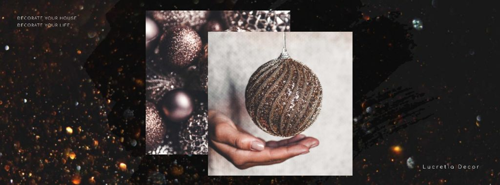 Decor Studio Ad Hands with Christmas Bauble — Crea un design