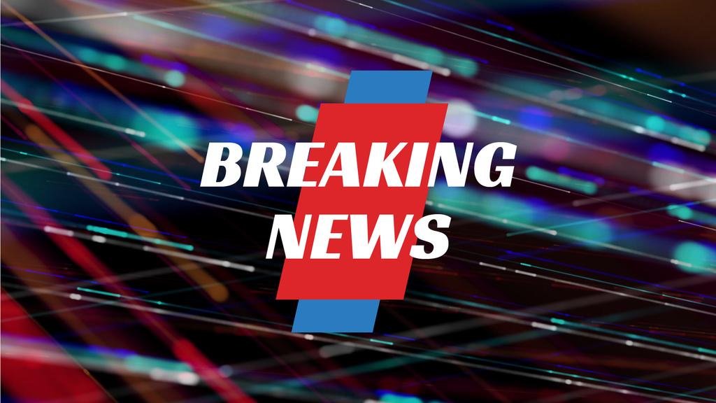 Breaking News Announcement Bright Moving Lines | Full Hd Video Template — Modelo de projeto