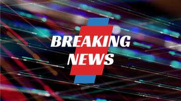 Breaking News Announcement Bright Moving Lines | Full Hd Video Template