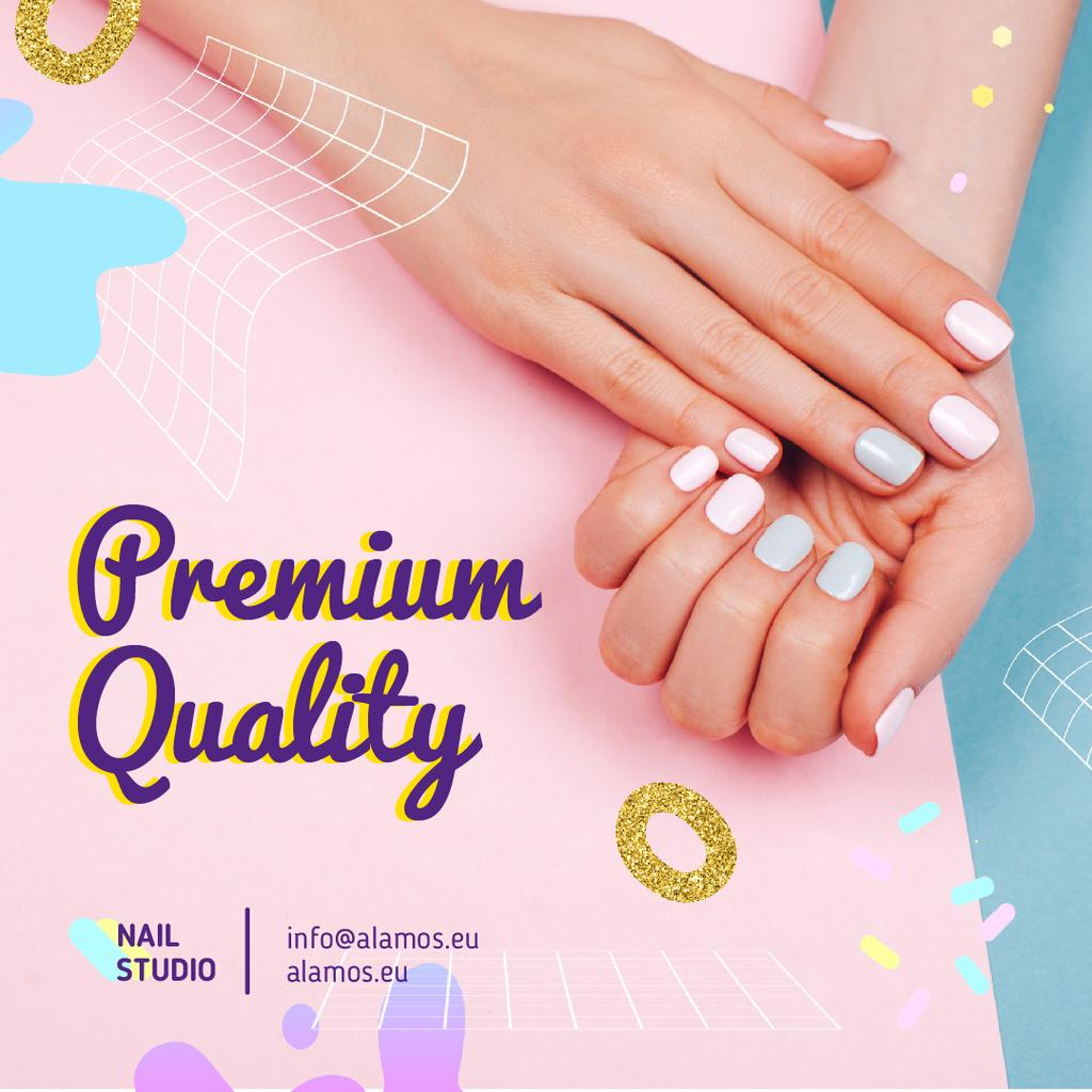 Nail Studio Offer with Manicured Female Hands  — Создать дизайн