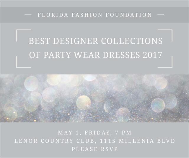 Template di design Fashion Show announcement bokeh in blue Facebook