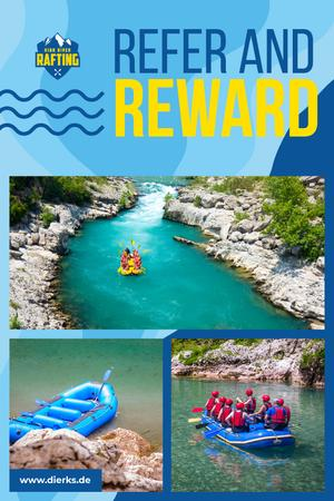 Szablon projektu Rafting Tour Invitation with People in Boat Pinterest