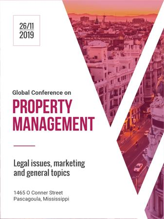 Property Management Conference City Street View Poster US Modelo de Design