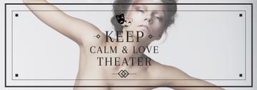 Theater Quote Woman Performing in White | Tumblr Banner Template