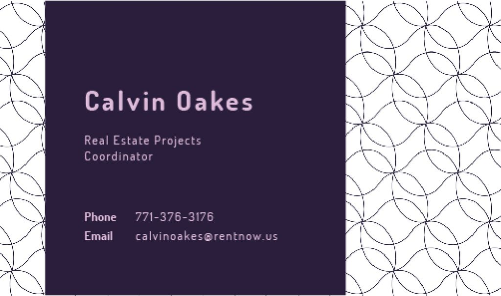 Real Estate Coordinator Ad with Geometric Pattern in Purple — Modelo de projeto