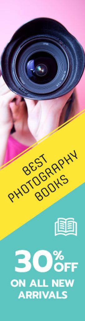 Best photography books banner Skyscraper Design Template