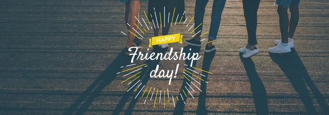 Friendship Day greeting Young People Together Tumblr Modelo de Design