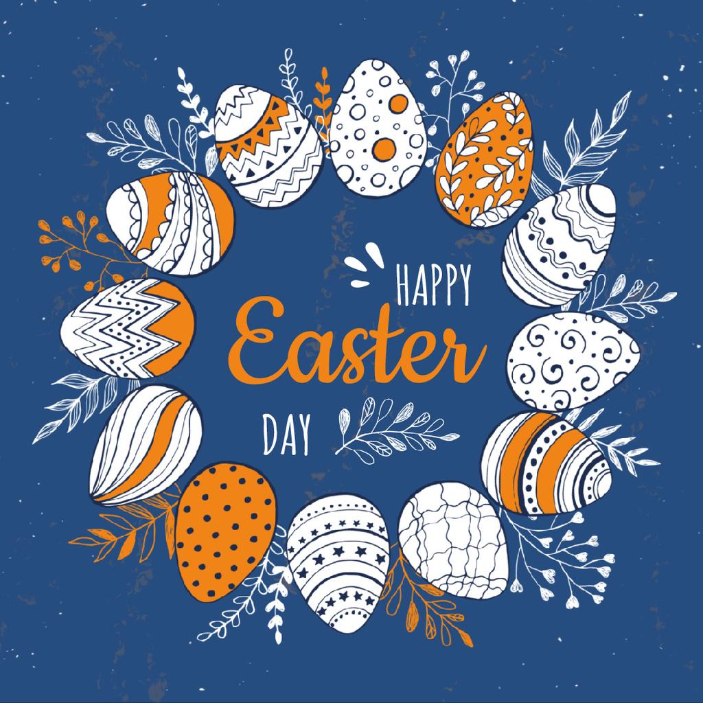 Coloured Easter eggs in Circle — Crea un design