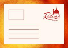 Ramadan Kareem Wishes with Muslim Mosque Building