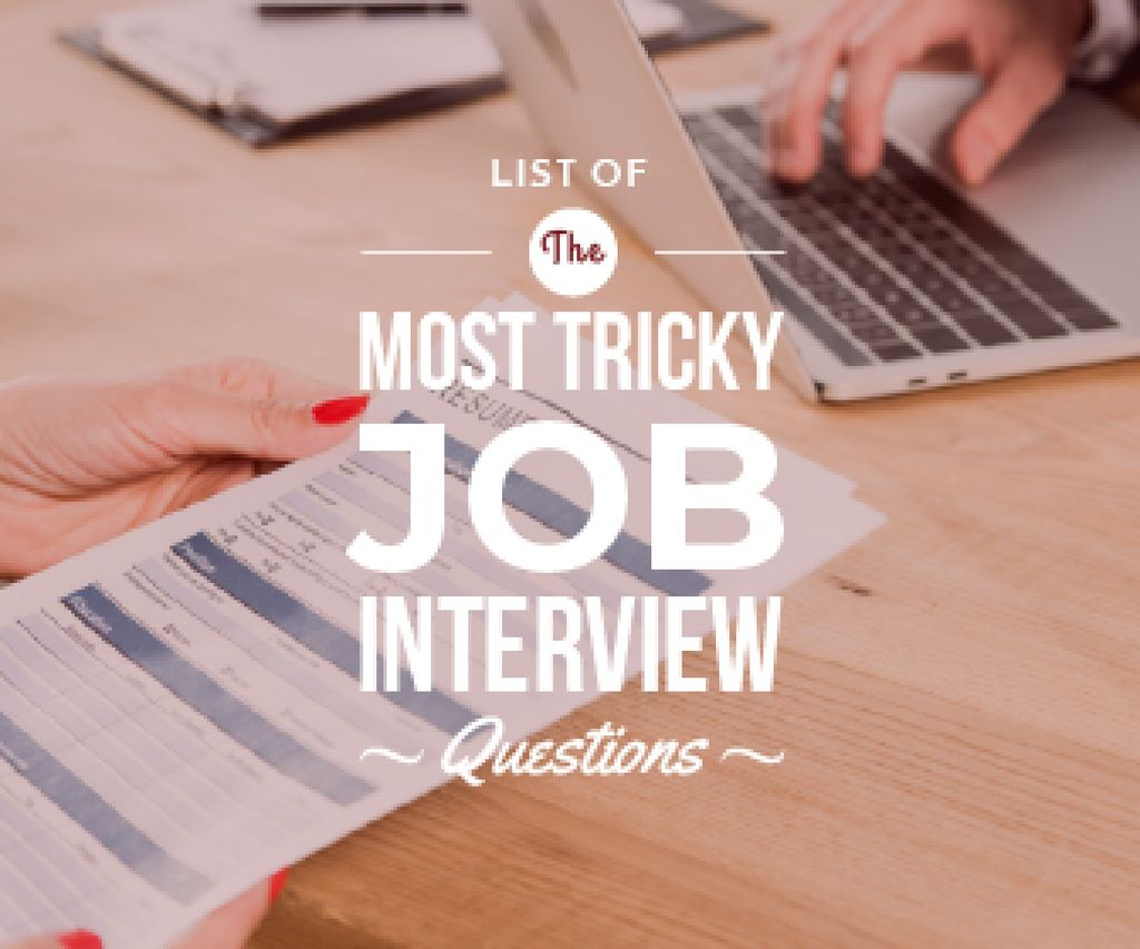 Job Interview Tricks Candidate with Resume — Modelo de projeto