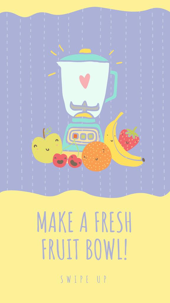 Raw Fruits with Kitchen Blender — Maak een ontwerp
