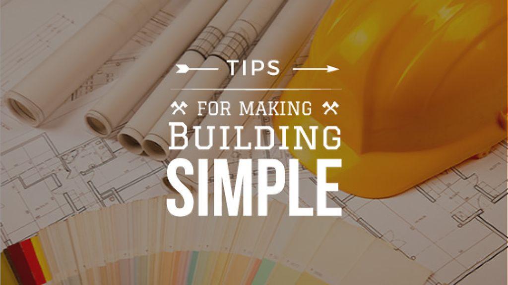 Building Tips blueprints on table — Modelo de projeto