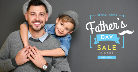 Modèle de visuel Special offer on Father's Day - Facebook AD