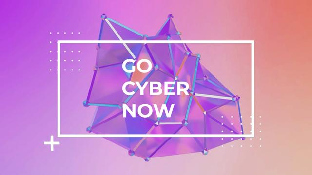 Cyber Monday Sale Digital Shape in Purple Full HD videoデザインテンプレート
