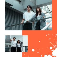 Young Couple love story in city