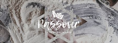 Ontwerpsjabloon van Facebook Video cover van Hand in Flour Cooking bread for Passover