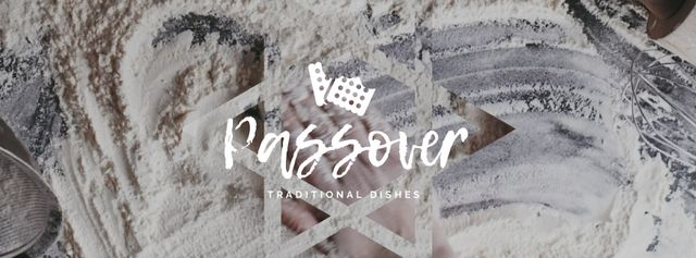 Modèle de visuel Hand in Flour Cooking bread for Passover  - Facebook Video cover