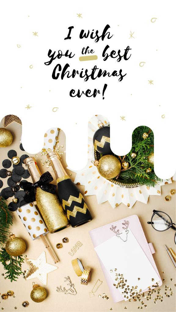 Christmas decor and champagne bottles — Create a Design