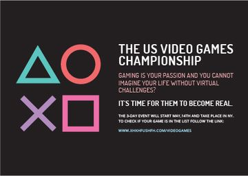 Video Games Championship Invitation | Card Template