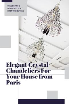 Elegant Crystal Chandeliers Offer in White | Pinterest Template