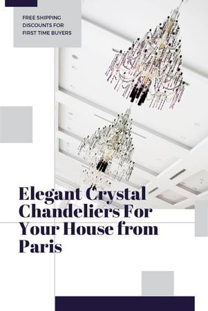 Elegant Crystal Chandeliers Offer in White Pinterest Tasarım Şablonu