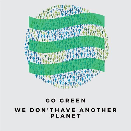 Citation about Green Planet Instagram Modelo de Design