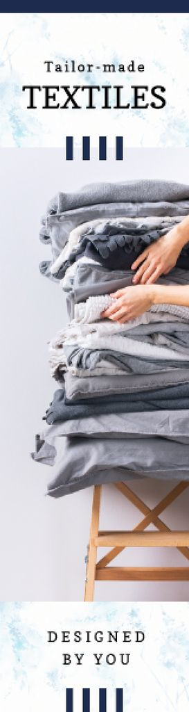Woman Choosing Home Textile in Grey —デザインを作成する