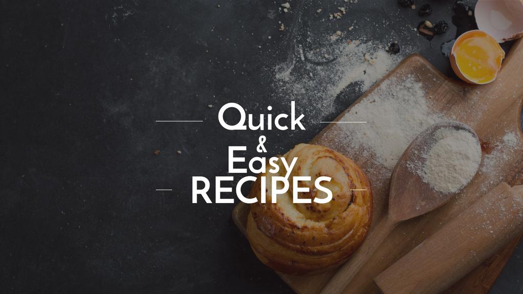 Quick and easy recipes with fresh bun — Crear un diseño