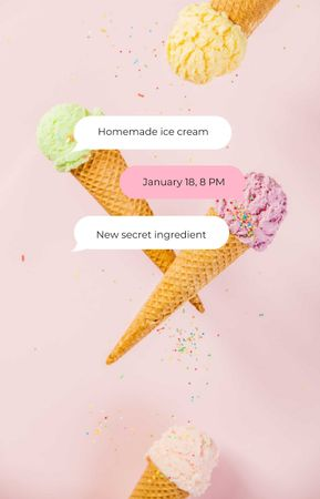 Template di design Delicious Ice Cream cones IGTV Cover