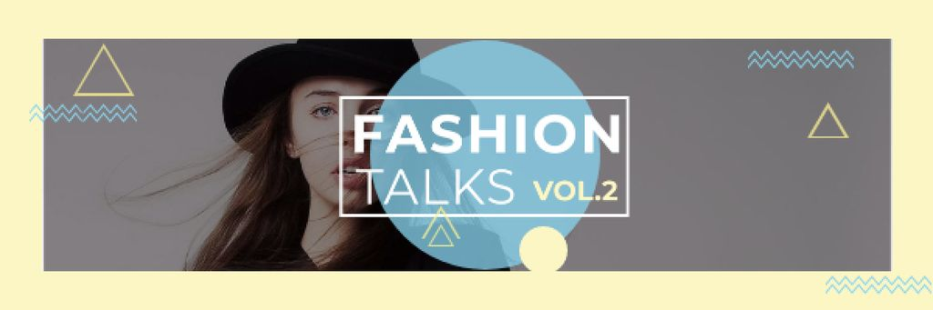 Fashion talks Announcement with stylish girl Email header – шаблон для дизайна