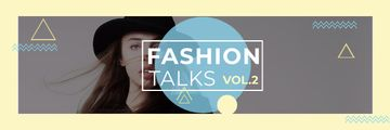 Fashion talks Announcement with stylish girl