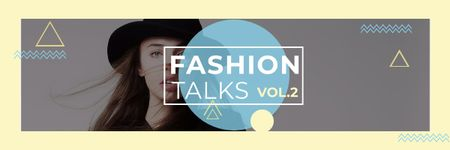 Szablon projektu Fashion talks Announcement with stylish girl Email header