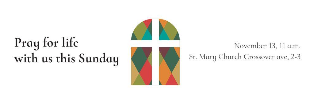 Invitation to Pray with Church windows — Create a Design
