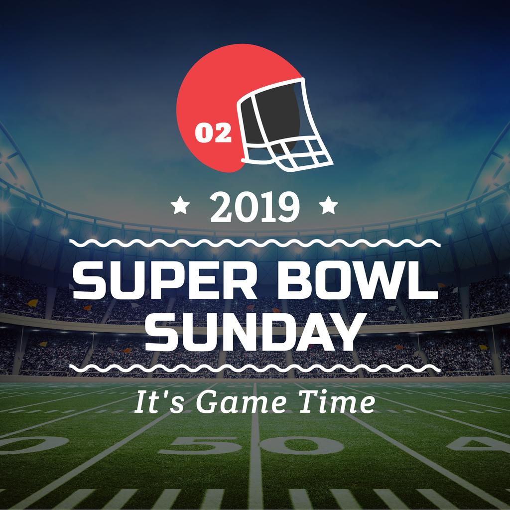 Super bowl sport banner — Crea un design